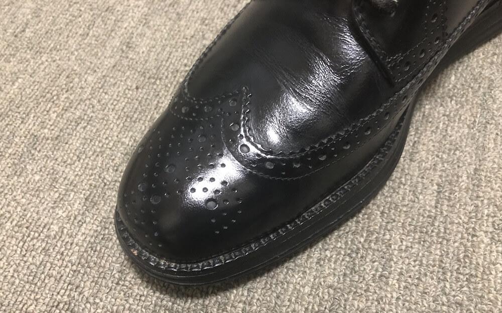 革用ポリッシングクロスだと革靴の仕上がりが良い