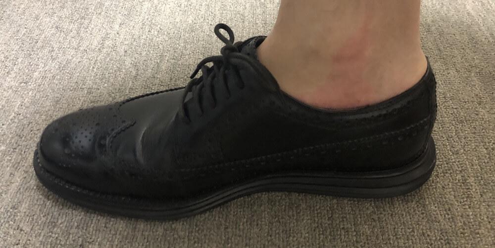 革靴の靴擦れ