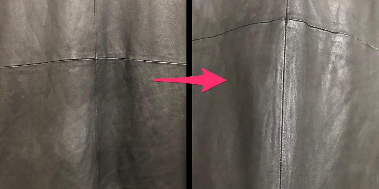 レザージャケットの白くなった部分の対処法