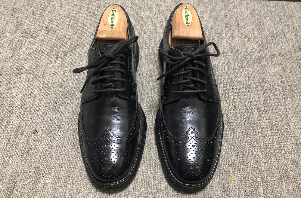 革靴の履きジワを伸ばすシューキーパー