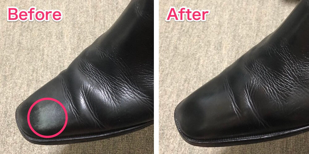 革靴が擦れて白くなったときの直し方